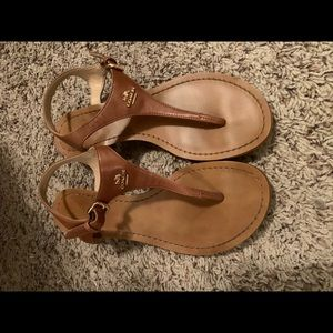 Coach Leather Sandals